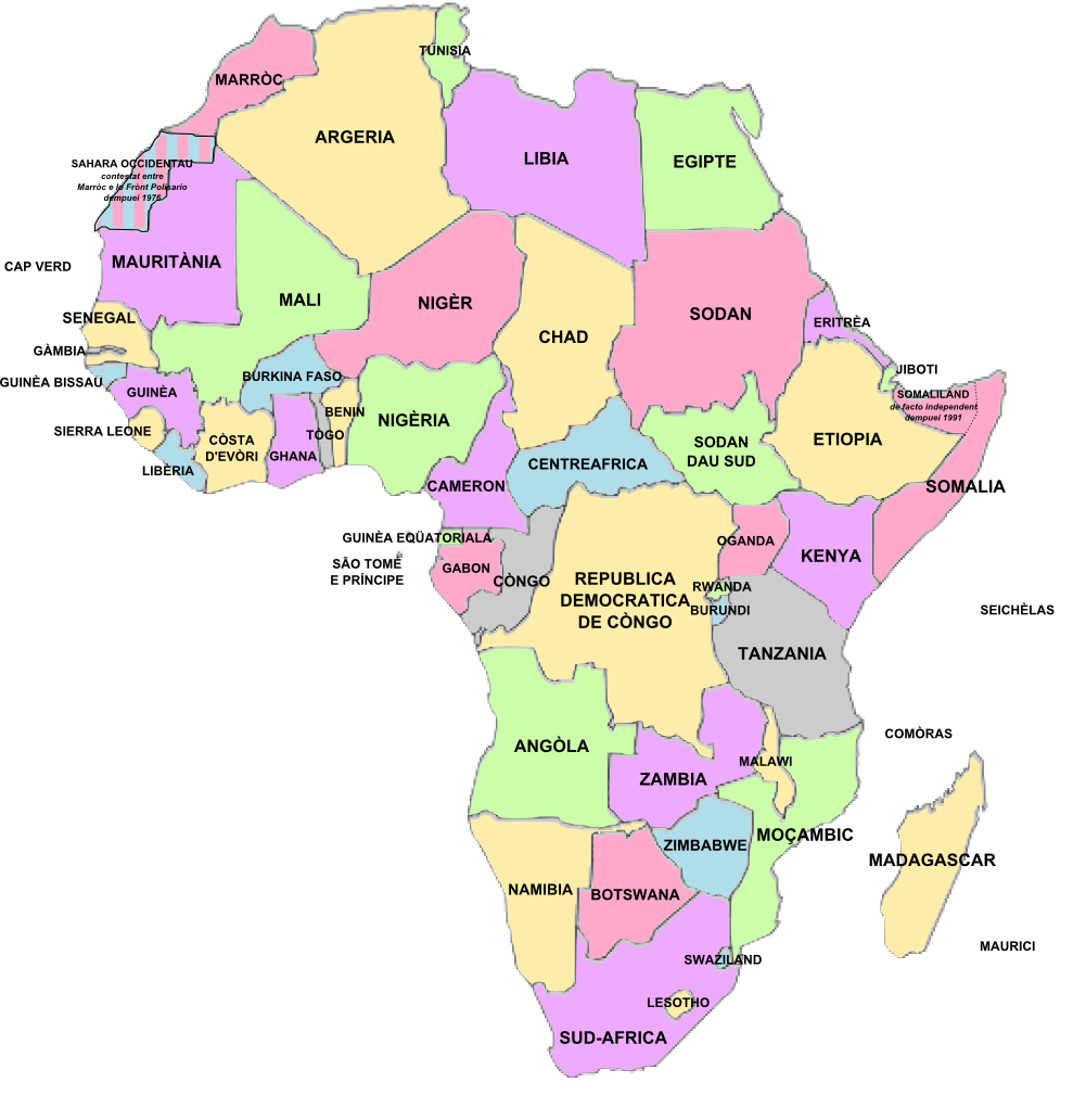 Africa Politica Cartina In Italiano.3 1 La Spartizione Dell Africa Cartina E Linea Del Tempo
